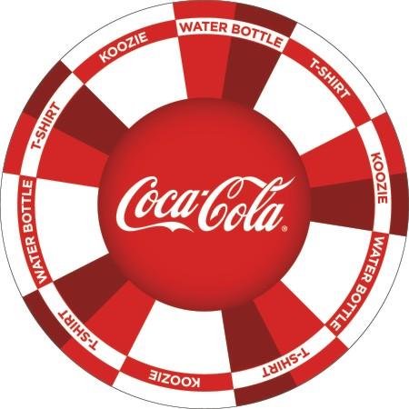 Coca Cola Prize Wheel