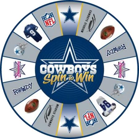 Dallas Cowboys Prize Wheel