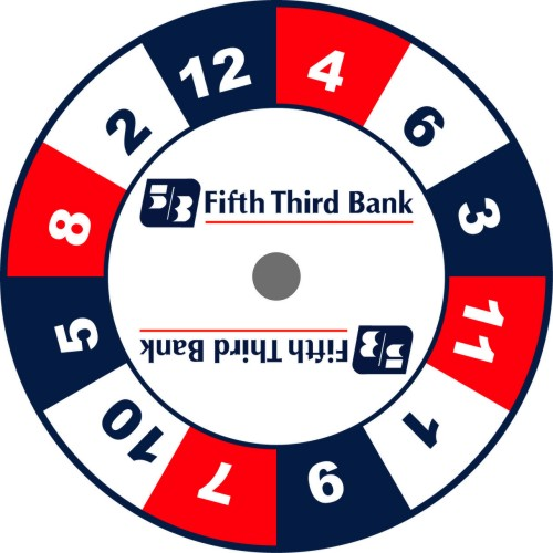 5th 3rd Bank prize wheel