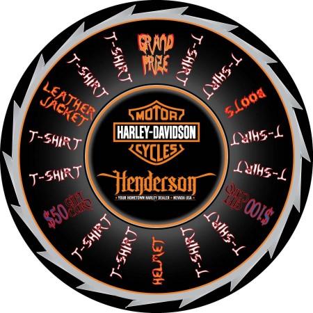 Henderson Harley Davidson Prize Wheel