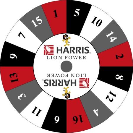 Harris Bank custom prize wheel