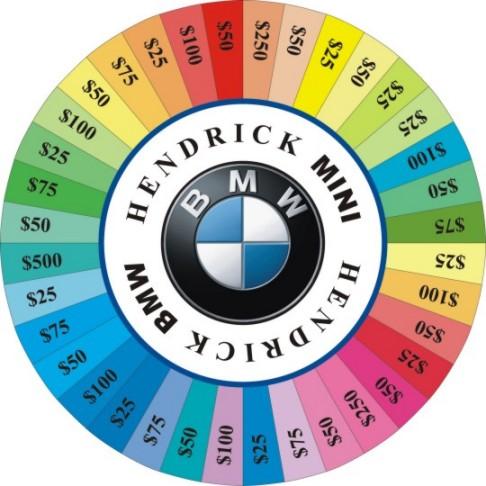 Hendrick BMW prize wheel