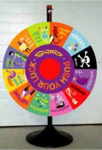 Shag Push Your Luck Prize Wheel