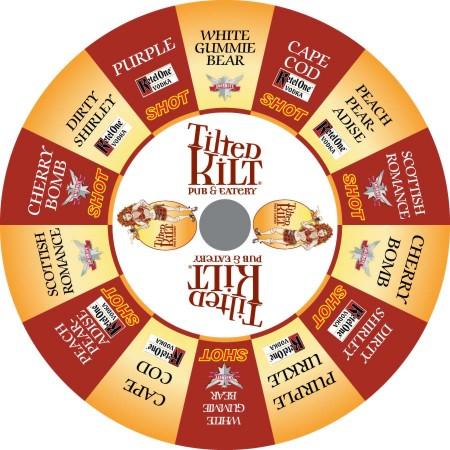 Tilted Kilt Custom Prize Wheel