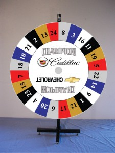 Champion Cadillac Prize Wheel
