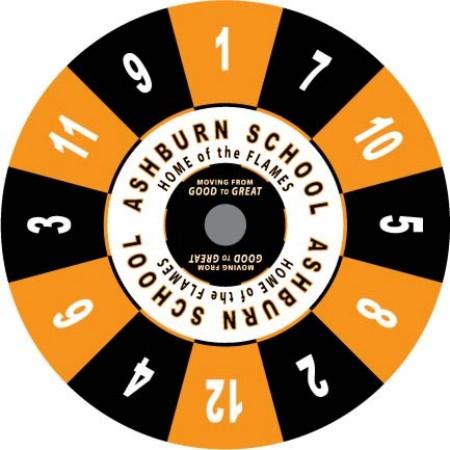 Ashburn School custom prize wheel