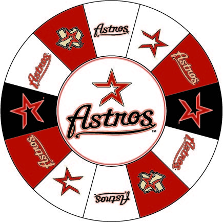 Houston Astros custom prize wheel