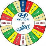Dodgers Hyundai custom prize wheel