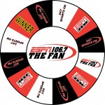 ESPN Radio 106.7 custom prize wheel