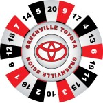 Greenville Toyota custom Prize Wheel