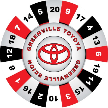 Greenville Toyota Prize Wheel