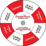 Gotto Pizza custom prize wheel