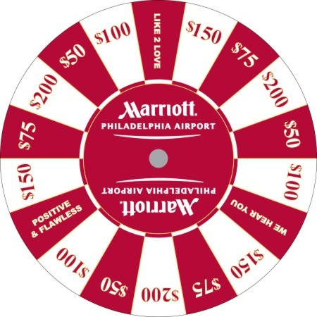 Marrriot Airport Philadelphia custom prize wheel
