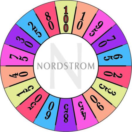 Nordstom's custom prize wheel