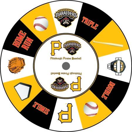 Pittsburgh Pirates Baseball custom prize wheel