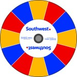 Southwest Airlines custom prize wheel