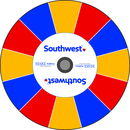 Southwest Airlines prize wheel