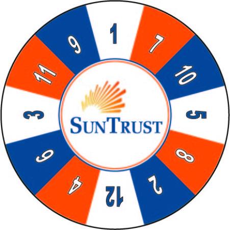 Sun Trust custom prize wheel
