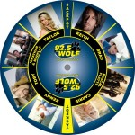 92.5 The Wolf Radio custom prize wheel
