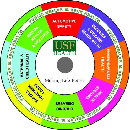USF Health custom prize wheel