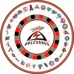 Volcanos Baseball custom prize wheel