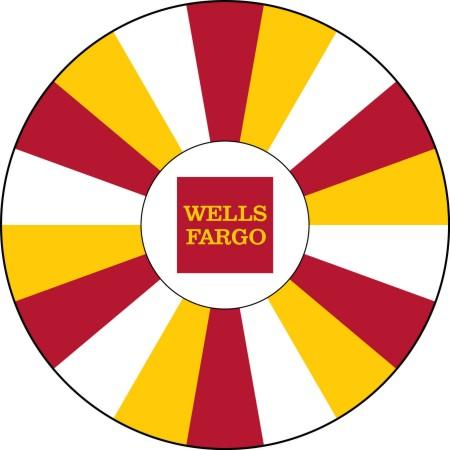 Wells Fargo custom prize wheel
